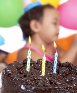 little girl's birthday celebration