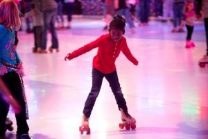 girl roller skating